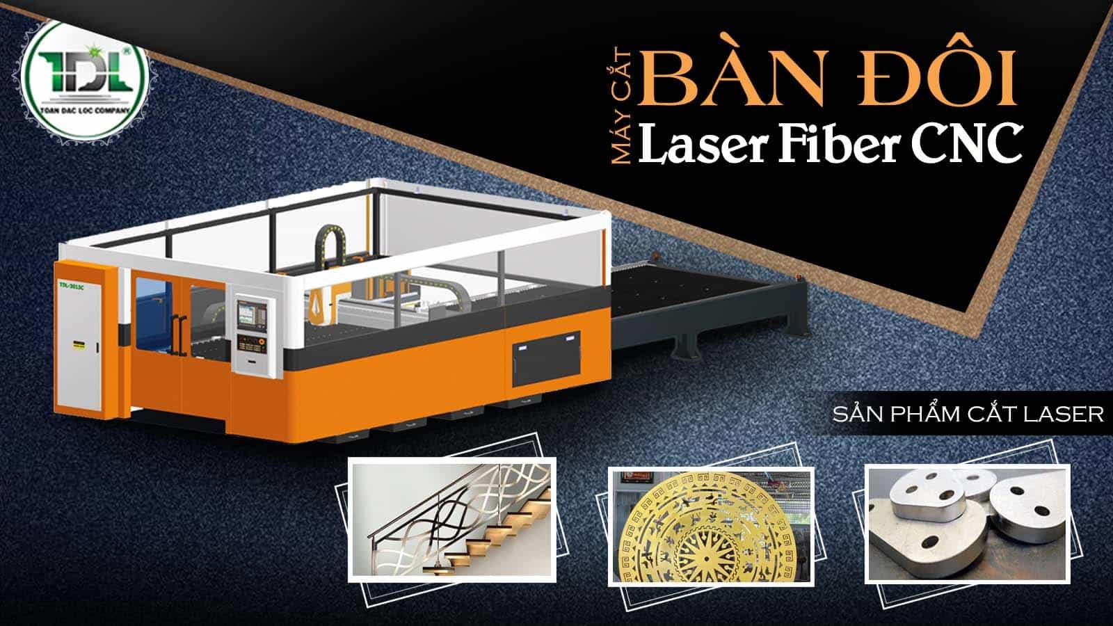 Máy cắt Laser cnc bàn đôi